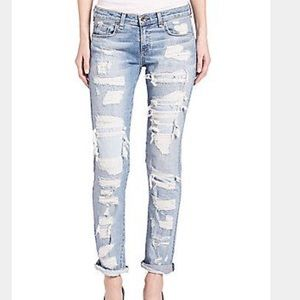 Rag & Bone Dre Distressed Skinny Boyfriend Jeans